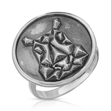 The W Brothers 925 Sterling Silver Geometric Hippo Ring