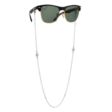 The W Brothers Monogram Leaf Glasses Chain made from 925 Sterling Silver, available in Silver, Gold, Rose Gold. These glasses chains are the highest quality of silver and a great accessory to summer.