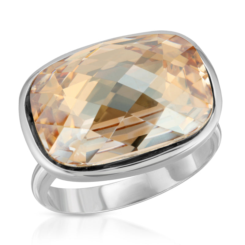 Topaz Cushion Crystal Ring - The W Brothers