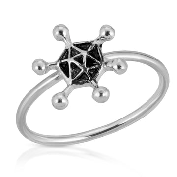 The W Brothers archaea ring, 925 sterling silver germs germz germ ring, silver archaea stackable rings jewelry, www.thewbros thewbros archaea silver ring female women jewelry silver rings anti-bacterial premium a grade silver
