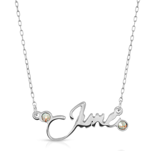 June Moonstone Necklace