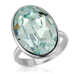 The W Brothers Premium Grade A 925 Sterling Silver Ecliptic Aquamarine Swarovski Ring, our tri-toned Amethyst Swarovski crystal element with our premium 925 Sterling Silver. Perfect for a fashionable statement for men and women's jewelry accessory. Available at www.thewbros.com