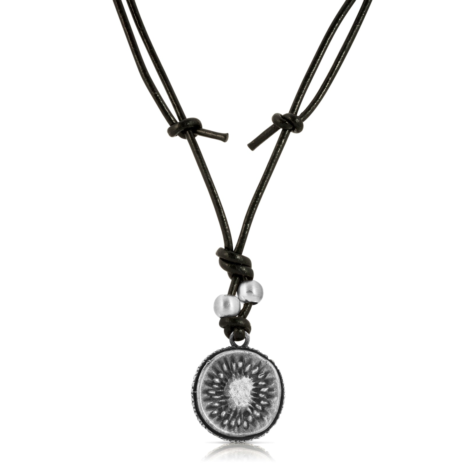 Kiwi Leather Necklace - The W Brothers