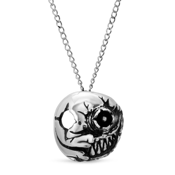The W Brothers Premium Grade A 925 Sterling Silver Corrupted Skull Pendant. Our signature skull pendant features a half-faced piece of asymmetrical design. Perfect for a fashionable statement for men and women's jewelry accessory. Available at www.thewbros.com