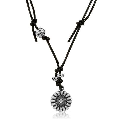 Sunflower Leather Necklace
