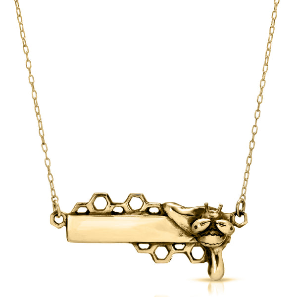 Honey Drip Bar Necklace - The W Brothers