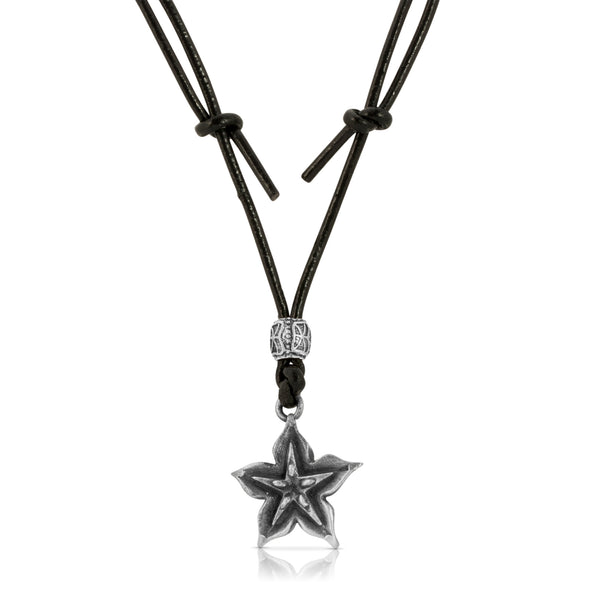Starfruit Leather Necklace - The W Brothers
