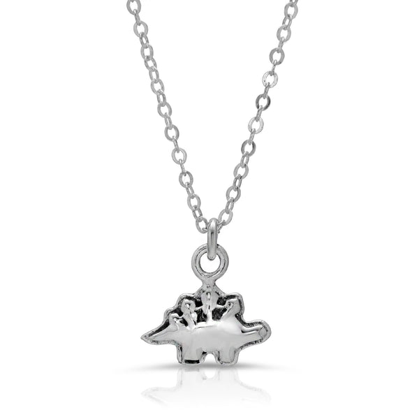 The W Brothers Dinosaur Collection featuring our Stegosaurus Stegos Pendant Necklace handcrafted in 925 Sterling silver, perfect for women's fashion. Available at www.thewbros.com