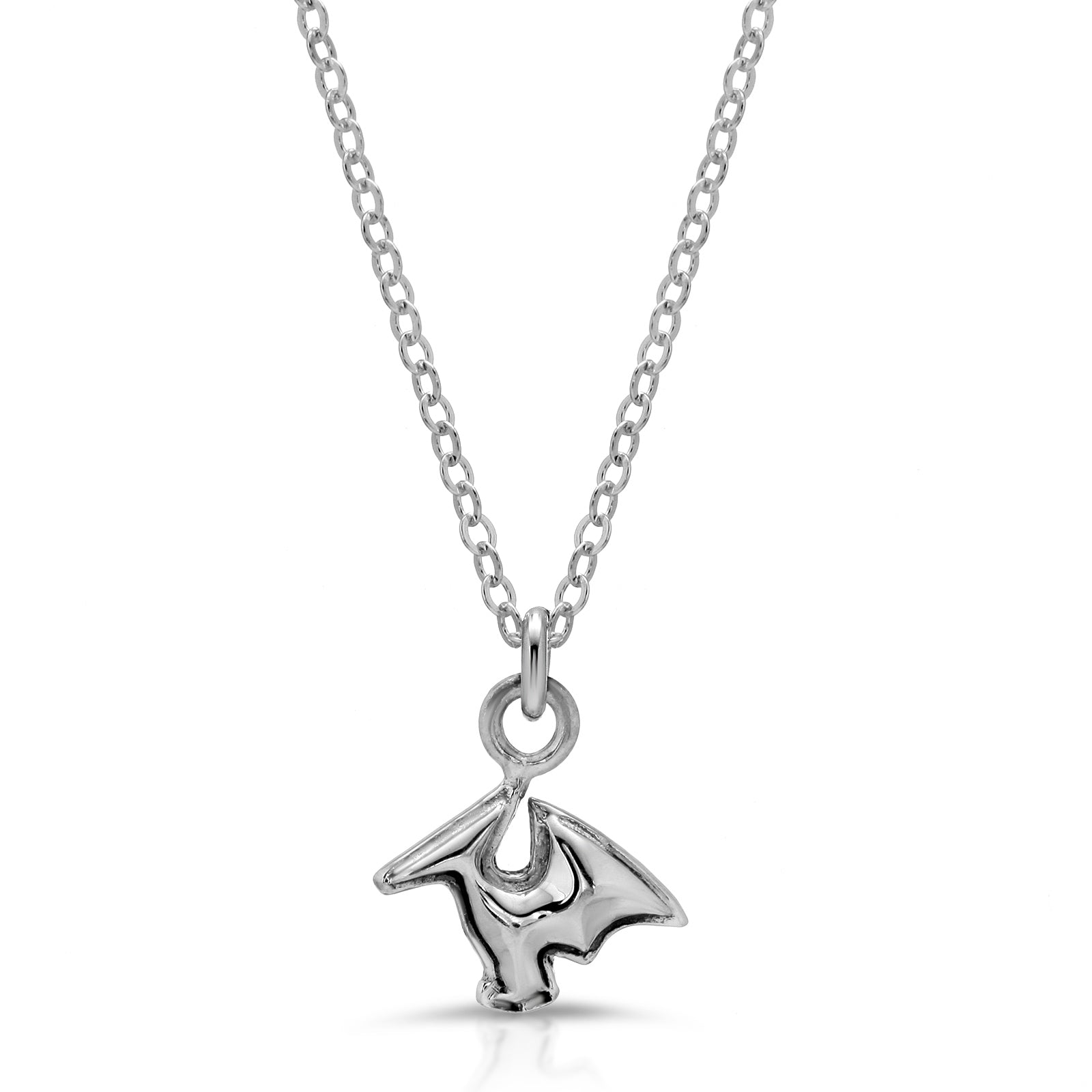 The W Brothers Dinosaur Collection featuring our Pterodactyl Sterling Silver Necklace Pendant handcrafted in 925 Sterling silver, perfect for women's fashion. Available at www.thewbros.com