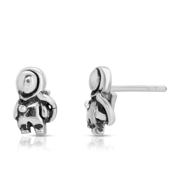 The W Brothers Area 51 Collection Astronaut Earrings perfect for men and women fashion crafted from the purest A Grade Silver, available at www.thewbros.com, astronaut NASA Area 51 earrings