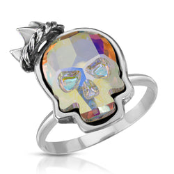 Opal Crown Skull Ring - The W Brothers