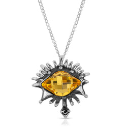The W Brothers Premium Grade A 925 Sterling Silver Light Topaz Vision Swarovski Pendant, perfect for a fashionable statement for men and women's jewelry accessory. Available at www.thewbros.com
