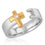 Monarch Cross Ring (Two-Tone)