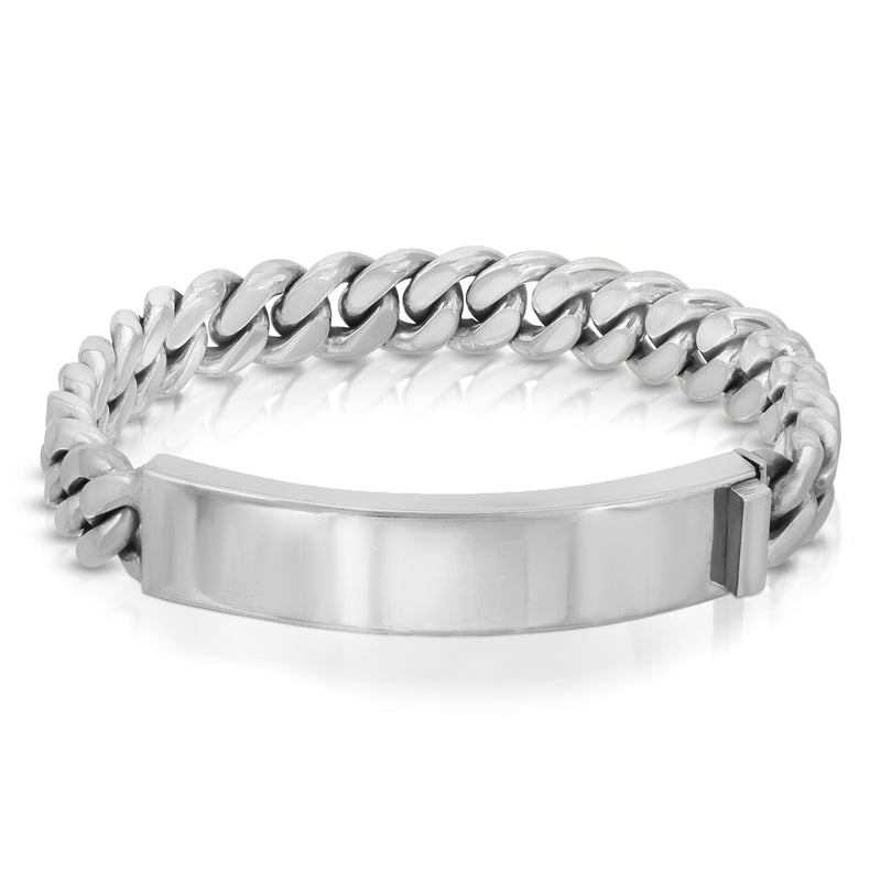 Cuban Chain Silver Bracelet - The W Brothers