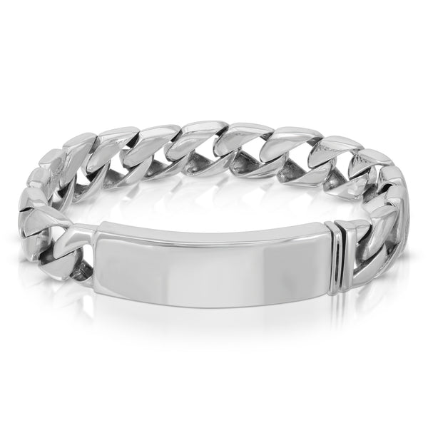 Curb Chain Silver Bracelet - The W Brothers
