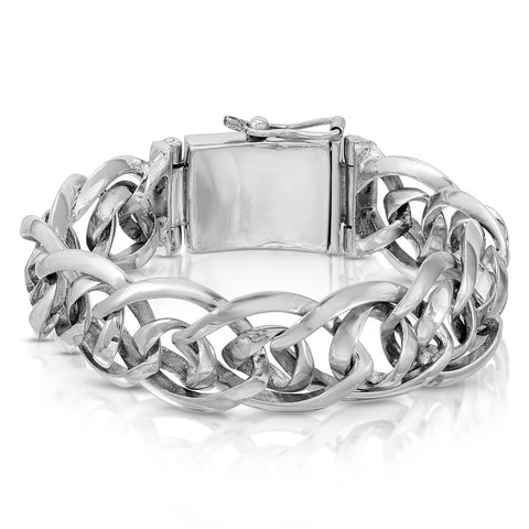 Infinity Curb Chain Silver Bracelet