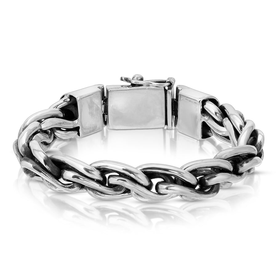 French rope silver bracelet chain link The W Brothers men jewelry 925 sterling silver