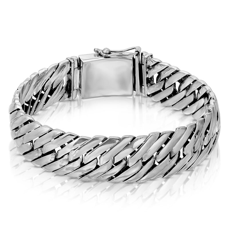 Herringbone Chain Silver Bracelet - The W Brothers