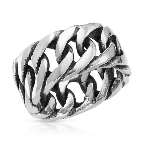 Cuban Silver Ring - The W Brothers