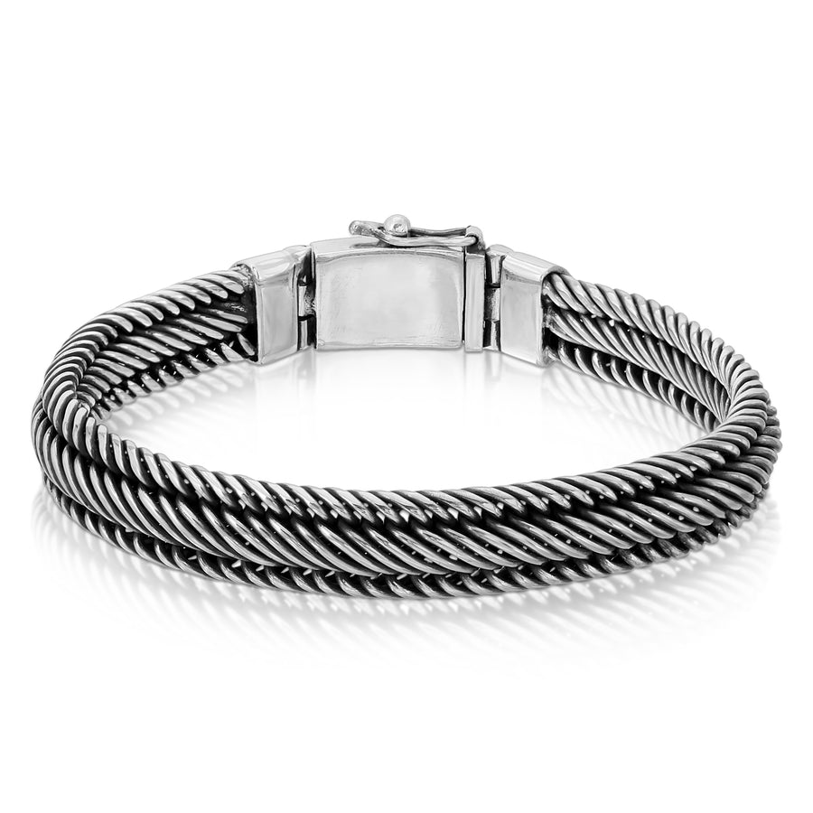 Centipede chain silver bracelet for men The W Brothers 925 sterling silver jewelry