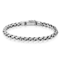 Spiga Wheat Chain Silver Bracelet - The W Brothers