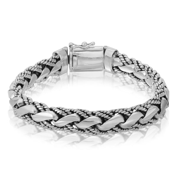Double Snake Rope Silver Bracelet - The W Brothers