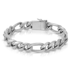 Figaro Chain Silver Bracelet - The W Brothers