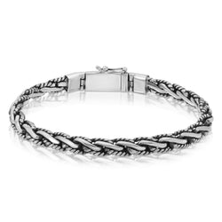 Snake Rope Chain Silver Bracelet - The W Brothers
