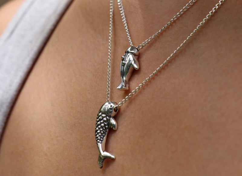 The W Brothers Premium Grade A 925 Sterling Silver Empress Koi Fish Pendant. Our Koi Fish pendant necklace is symbolic of good fortune, perseverance in adversity and ultimately strength of inner self. Perfect for a fashionable statement for men and women's jewelry accessory. Available in silver, gold and rose gold at www.thewbros.com