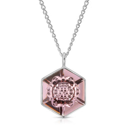 Smokey Mauve Hexagon Swarovski Pendant (18 mm) - The W Brothers