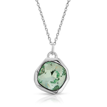 The W Brothers Chrysolite Green Swarovski Meteor Pendant Necklace made of Premium 925 Sterling Silver, perfect for men & women.