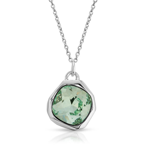 The W Brothers Premium Grade A 925 Sterling Silver Chrysolite Meteor Swarovski Pendant is set with a shimmering tri-toned Chrysolite (Light Green) Swarovski crystal embraced with premium sterling silver. Perfect for a fashionable statement for men and women's jewelry accessory. Available at www.thewbros.com