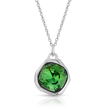 The W Brothers Peridot Green Meteor Swarovski pendant necklace, made from premium 925 Sterling silver, made for men and women.