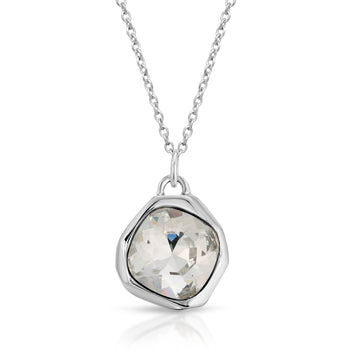 The W Brothers White Moonlight Diamond Swarovski Crystal Pendant Necklace made from premium 925 Sterling silver, perfect for men and women.