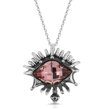 The W Brothers Vision Swarovski Rose Pendant Necklace, handcrafted from the highest premium A grade 925 Sterling Silver, designed for a elegant fashion statement.