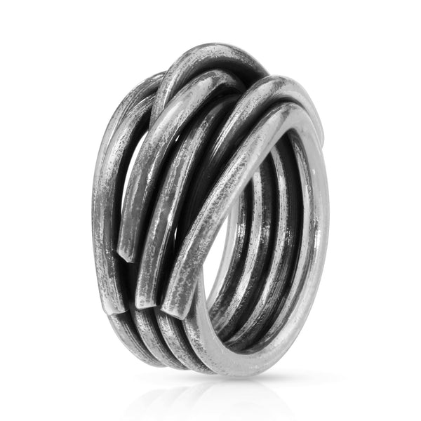 Thick Woven Silver Ring - The W Brothers Thick Woven Silver Ring - The W Brothers, women ring, braided ring, thick braided silver ring for women woman 925 sterling silver ring