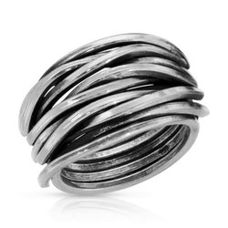 Woven Silver Ring - The W Brothers