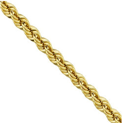 Solid 18K Gold Rope Chain