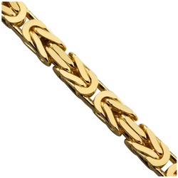 The W Brothers TheWBros 14k Solid Gold Byzantine Link Chain Necklace 3.5 mm, weight starting at 39 grams. Available in 14k Solid Yellow Gold, 14k Solid White Gold, 14k solid Rose Gold. Shop your gold jewelry at the best prices at thewbros.com.