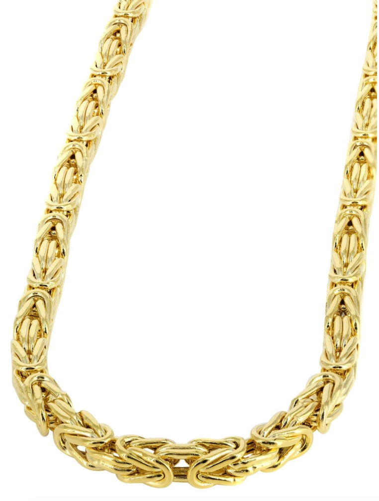 The W Brothers TheWBros 14k Solid Gold Byzantine Link Chain Necklace 3.5 mm, starting 39 grams. Available in 14k Solid Yellow Gold, 14k Solid White Gold, 14k solid Rose Gold. Shop your gold jewelry at the best prices at thewbros.com