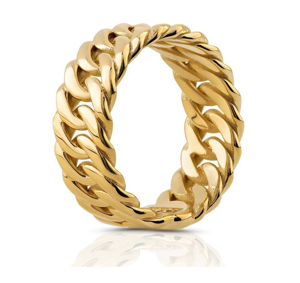 The W Brothers 18K Solid Gold Cuban Ring crafted to perfection in solid 18K yellow gold, solid white gold, or solid rose gold. Our cuban ring is hand-crafted with the top solid gold materials in the world. Shop your gold jewelry options only at https://www.thewbros.com/