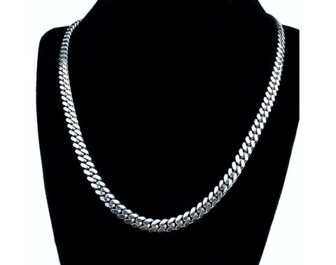 Sterling Silver Miami Cuban Chain