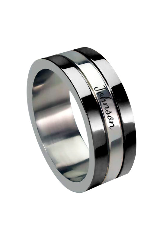 The W brothers 3 Layer Black Finish Ring featuring our handcrafted 3 Layer Ring, designed from premium Grade A 925 Sterling Silver, perfect for a fashionable & cute look for men and women. Available at www.thewbros.com