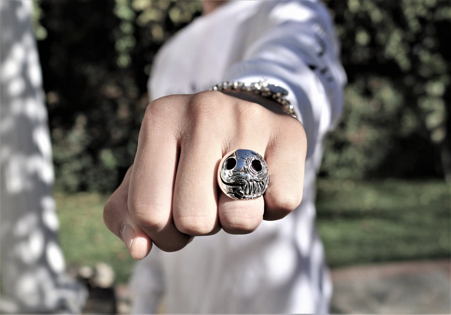 Jack Skellington Skull ring made of sterling silver The W Brothers