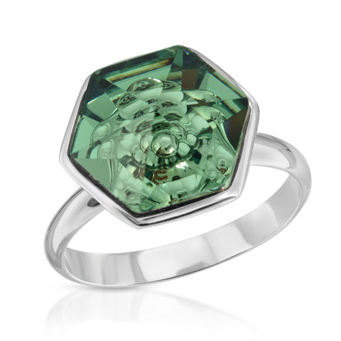 Erenite Hexagon Ring (14 mm)