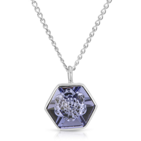 Tanzanite Hexagon Pendant (14 mm)
