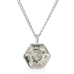 White Swarovski Hexagon Pendant (14 mm) - The W Brothers
