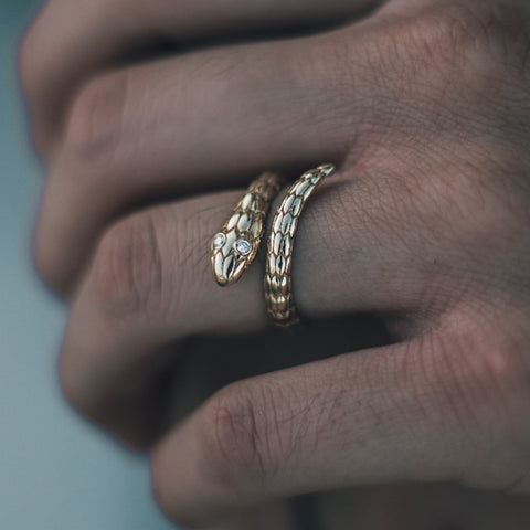 Solid 18K Gold Mamba Ring