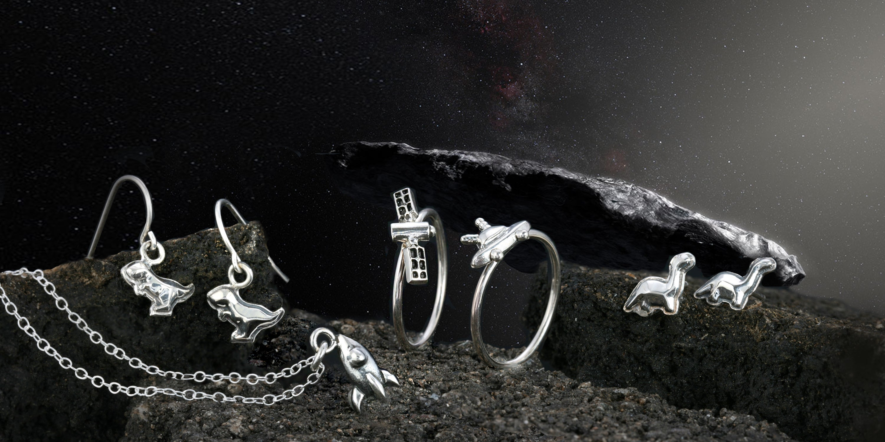 Rocket Ring - Area 51 Collection The W Brothers, space collection, the w bros space collection rocket ship ring, 925 sterling silver premium A Grade silver, space rocket stackable ring, fine silver, NASA spaceship ring