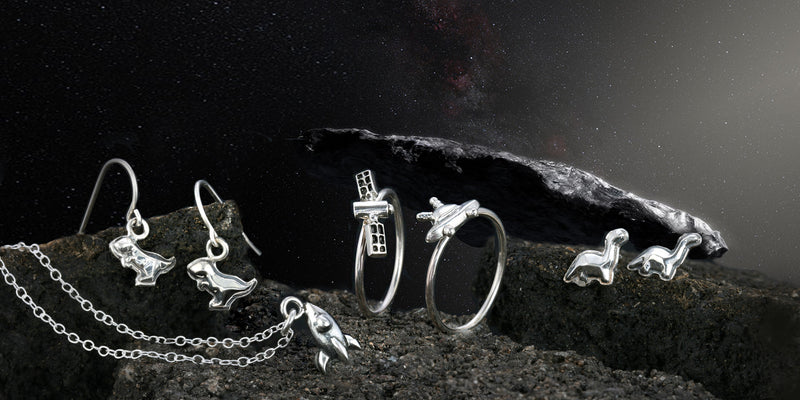 UFO Ring Area 51 Collection - The W Brothers, Space Collection, 925 sterling silver premium A Grade Silver, ufo space ring, silver jewelry ring, stackable cute women silver rings, spaceship ring, UFO Area 51 Ring NASA Space collection